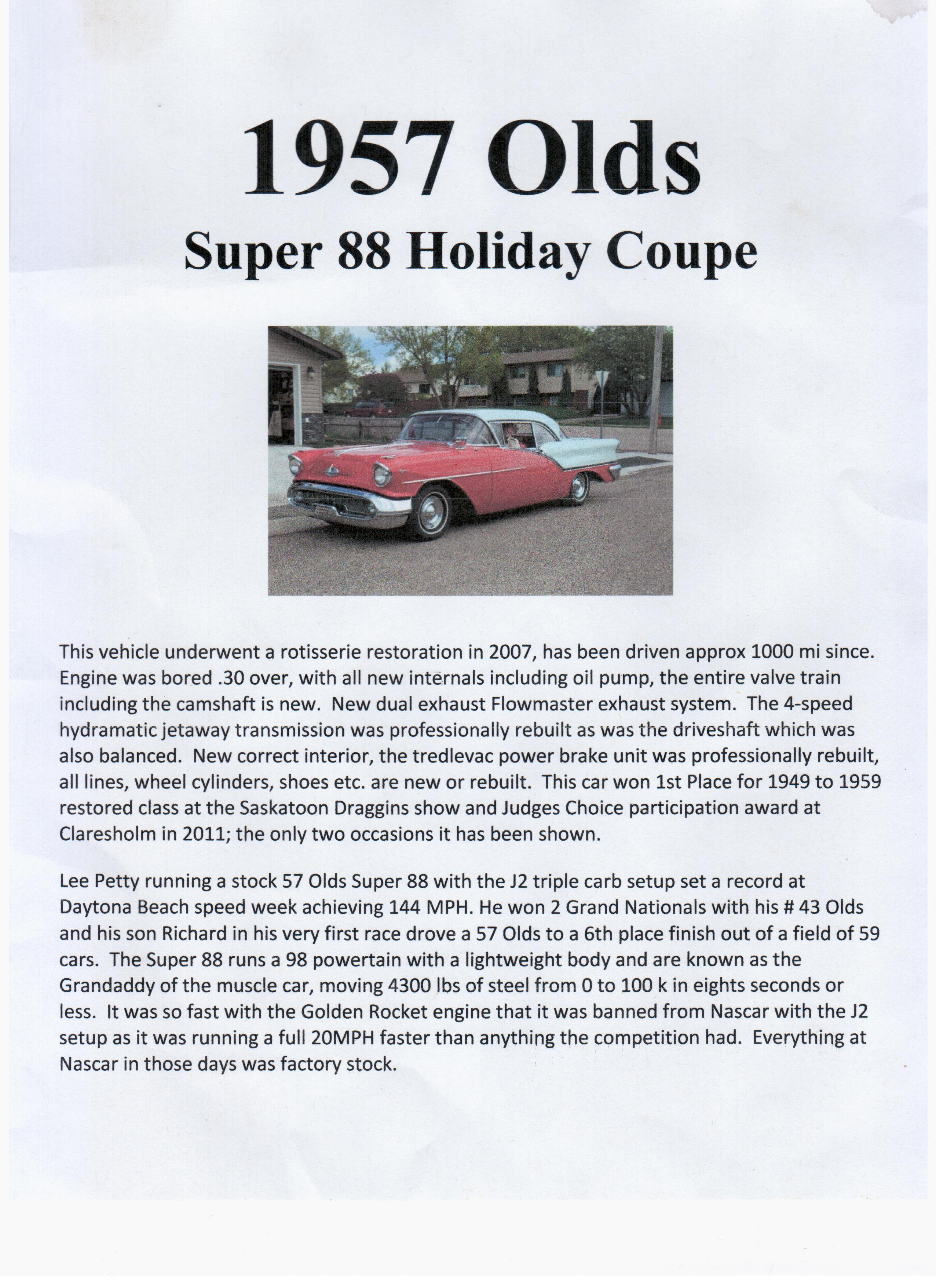 1957 Olds Super 88 Write Up