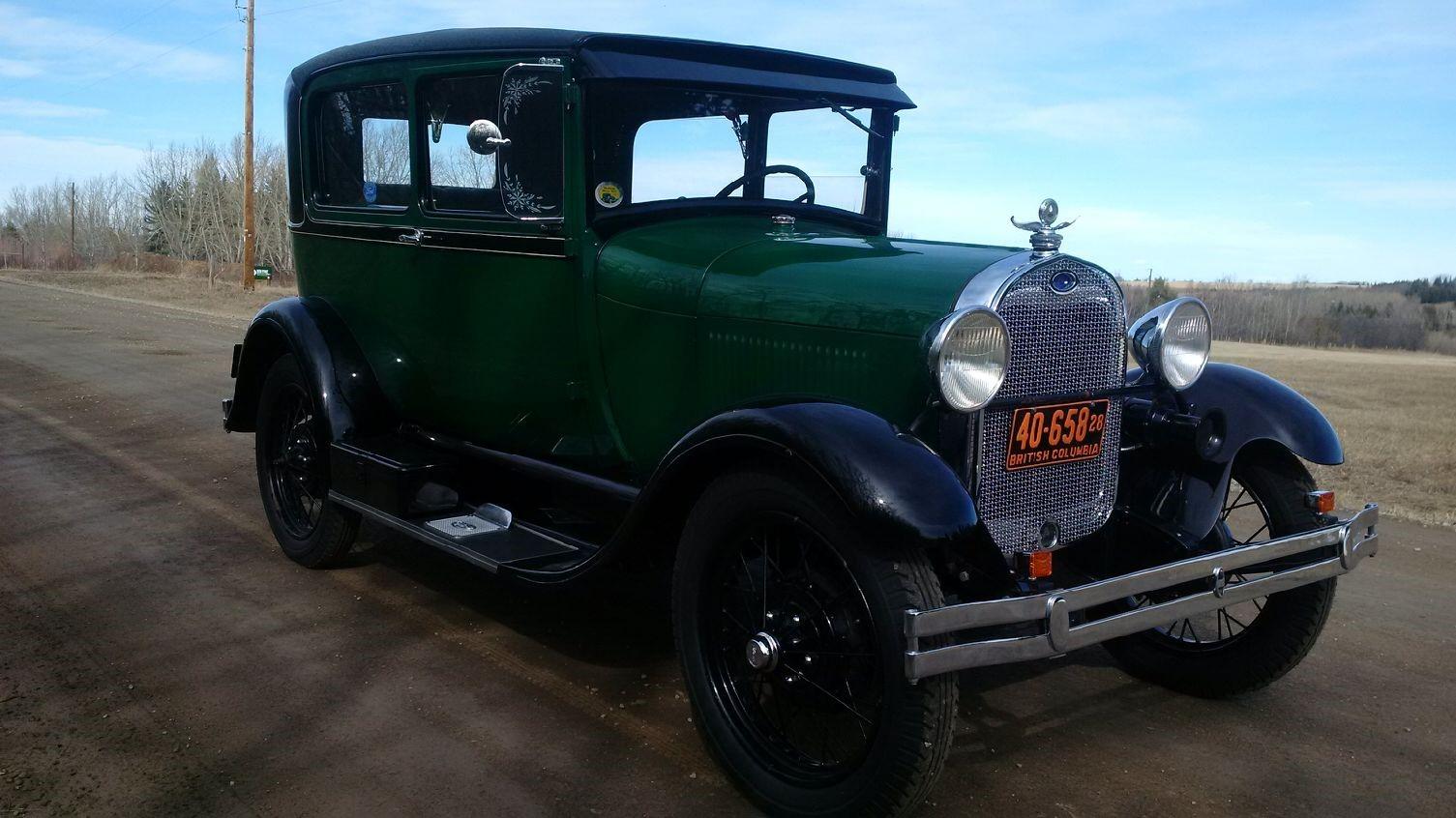 1928 Model A Tudor - Passenger view