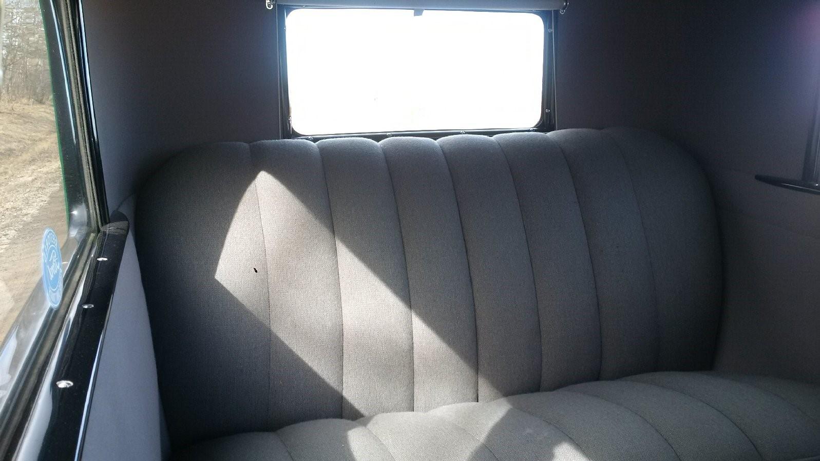 1928 Tudor Back seat view