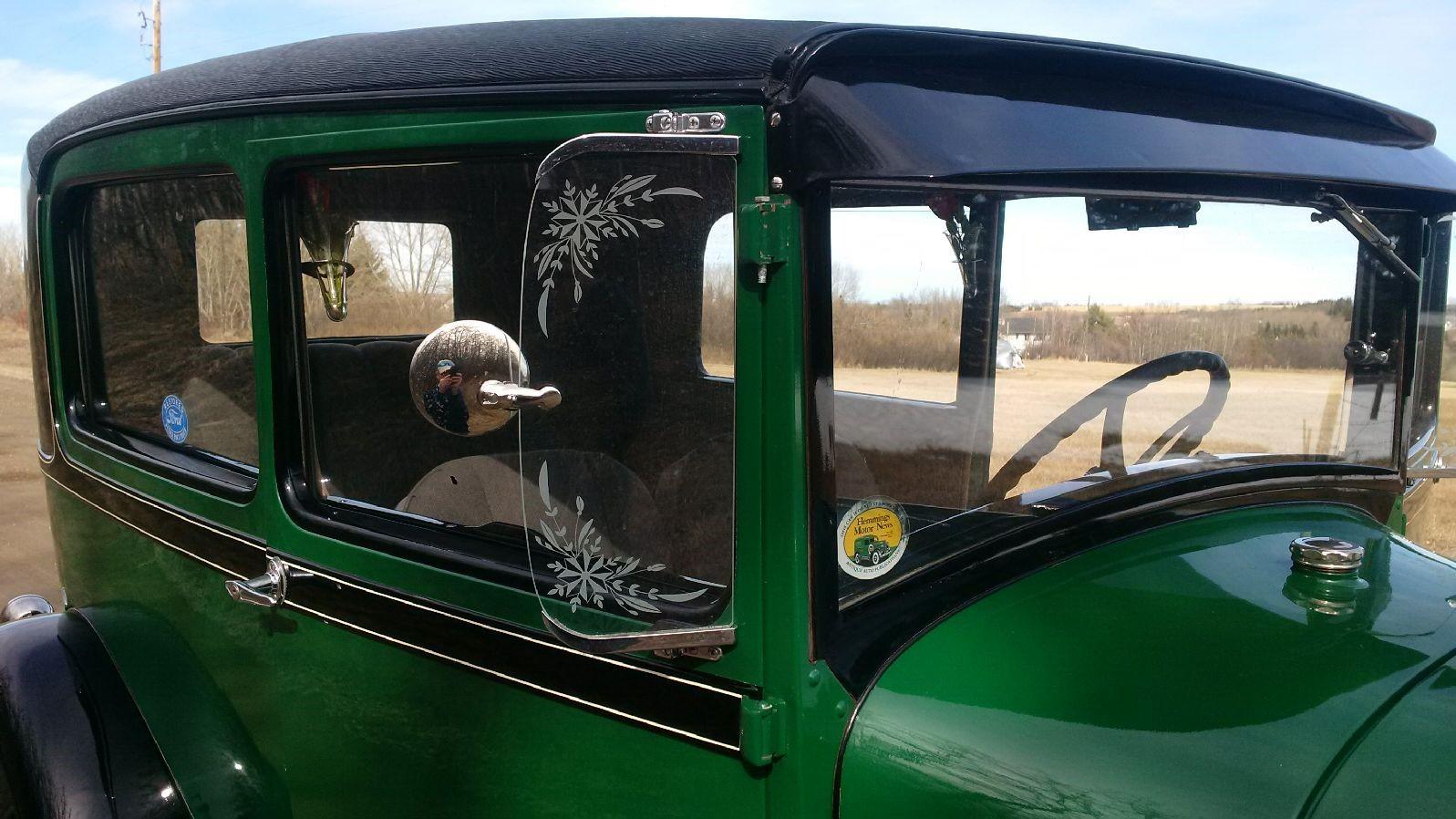 1928 Tudor -- Passenger side wing view mirror